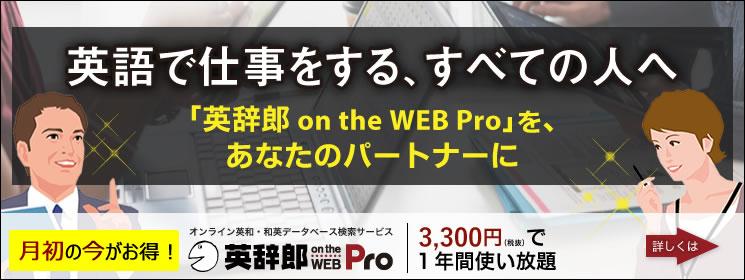 英辞郎 on the WEB Pro_4